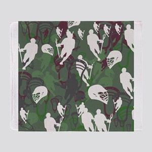 Lacrosse Camo Green 20XX Throw Blanket