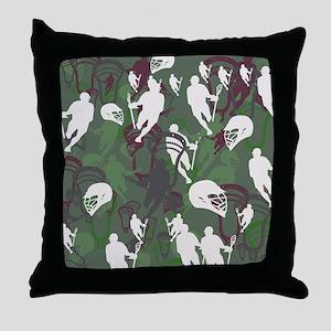 Lacrosse Camo Green 20XX Throw Pillow