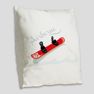Airborne Burlap Throw Pillow