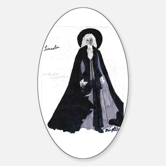 Sir Roderic as Lincoln Oval Decal