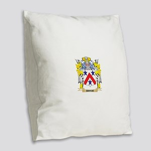 Brodie Coat of Arms - Family C Burlap Throw Pillow