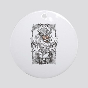 Viking Ornament (Round)
