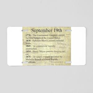 September 19th Aluminum License Plate