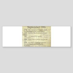September 19th Bumper Sticker