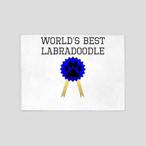 Worlds Best Labradoodle 5'x7'Area Rug