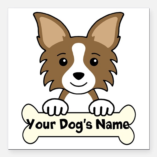"""Personalized Chihuahua Square Car Magnet 3"""" x 3"""""""