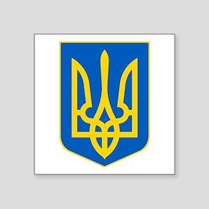 """Ukraine Coat of Arms Square Sticker 3"""" x 3"""""""