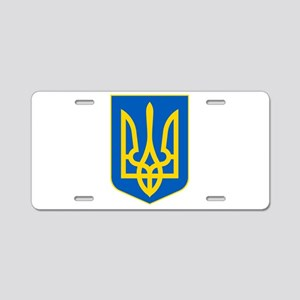 Ukraine Coat of Arms Aluminum License Plate