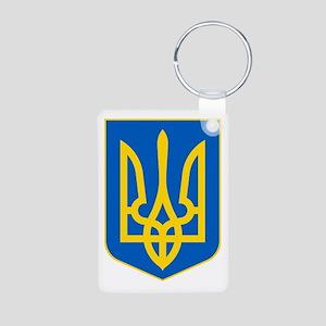 Ukraine Coat of Arms Aluminum Photo Keychain