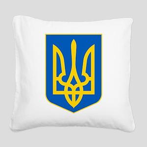 Ukraine Coat of Arms Square Canvas Pillow