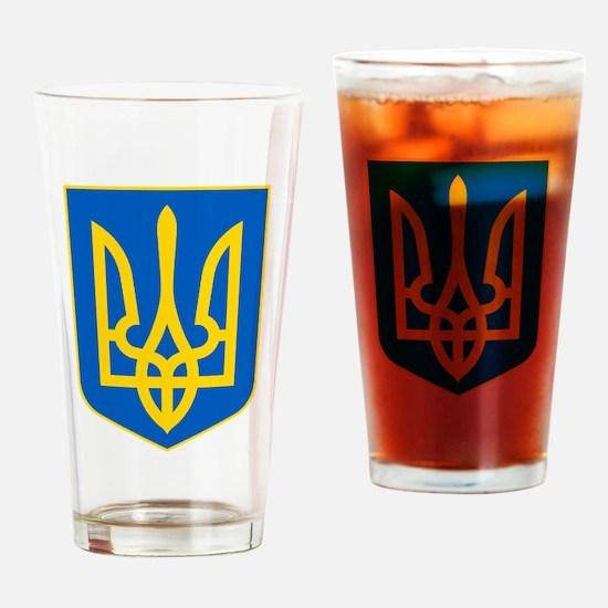 Ukraine Coat of Arms Drinking Glass