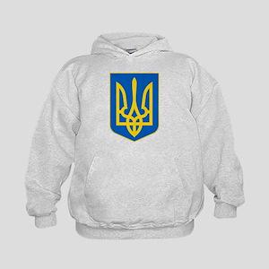 Ukraine Coat of Arms Kids Hoodie
