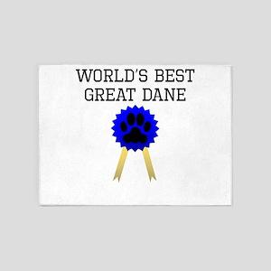 Worlds Best Great Dane 5'x7'Area Rug