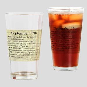 September 17th Drinking Glass