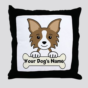 Personalized Chihuahua Throw Pillow