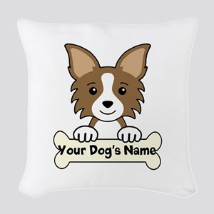 Personalized Chihuahua Woven Throw Pillow