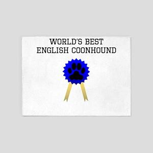Worlds Best English Coonhound 5'x7'Area Rug