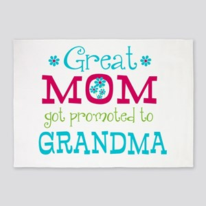 Great Mom Promoted to Grandma 5'x7'Area Rug