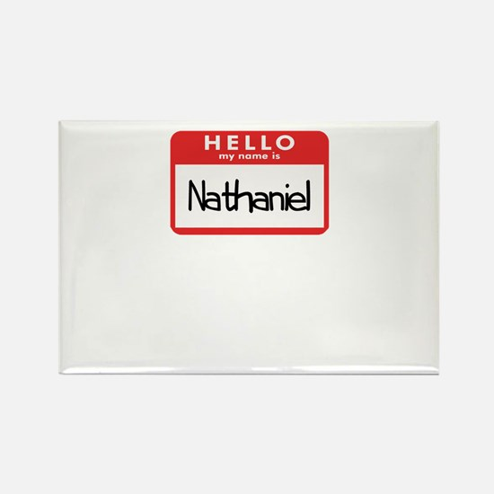 Hello Nathaniel Rectangle Magnet