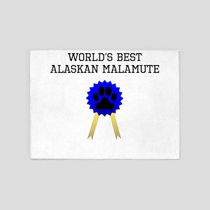 Worlds Best Alaskan Malamute 5'x7'Area Rug