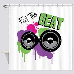 Feel The BEAT Shower Curtain