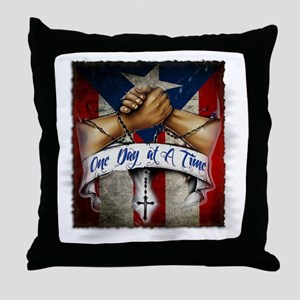 OnedayatatimePR Throw Pillow