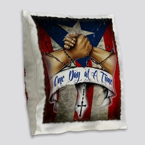 OnedayatatimePR Burlap Throw Pillow