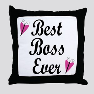 Best Boss Ever Throw Pillow