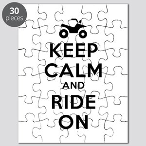 Keep Calm Ride On Puzzle