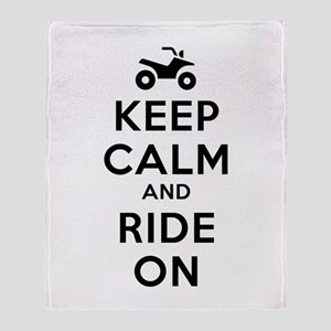 Keep Calm Ride On Throw Blanket