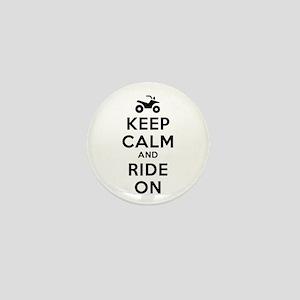 Keep Calm Ride On Mini Button