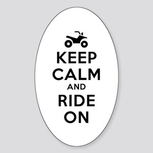 Keep Calm Ride On Sticker (Oval)