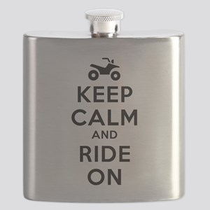 Keep Calm Ride On Flask