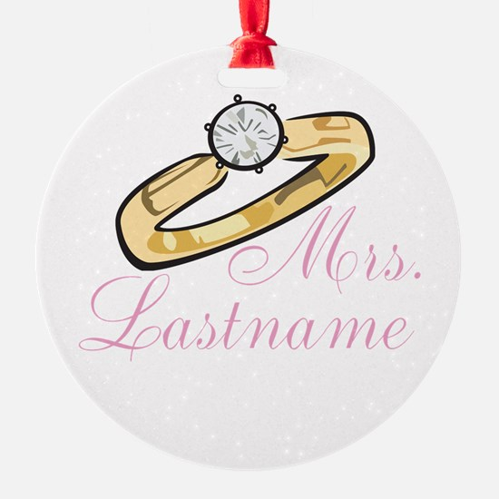 Personalized Mrs. Ornament