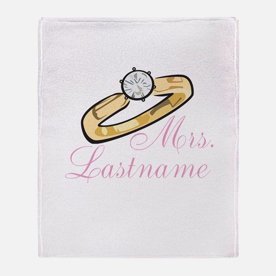 Personalized Mrs. Throw Blanket