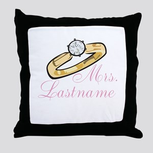 Personalized Mrs. Throw Pillow