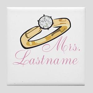 Personalized Mrs. Tile Coaster