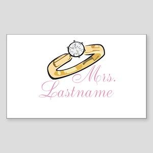 Personalized Mrs. Sticker (Rectangle)