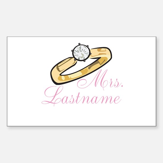 Personalized Mrs. Sticker (Rectangle)