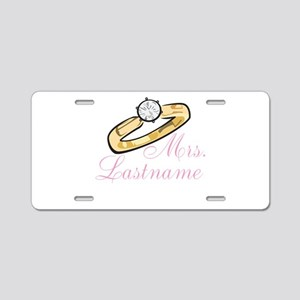 Personalized Mrs. Aluminum License Plate