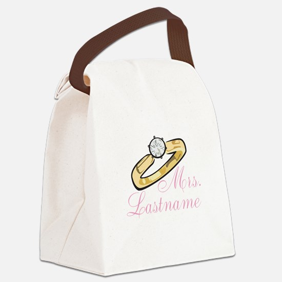 Personalized Mrs. Canvas Lunch Bag