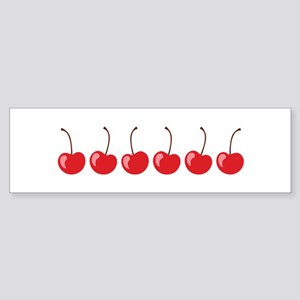 Row Of Cherries Bumper Sticker