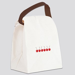 Row Of Cherries Canvas Lunch Bag