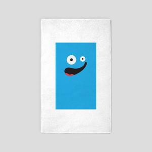 Silly Face - Blue 3'x5' Area Rug