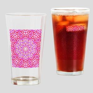 Pink Kaleidoscope Drinking Glass