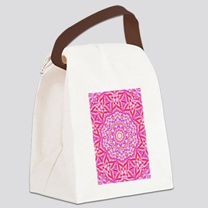 Pink Kaleidoscope Canvas Lunch Bag