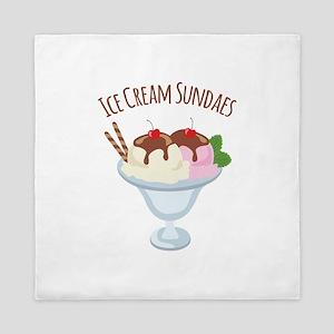 Ice Cream Sundaes Queen Duvet