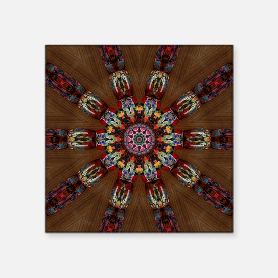 "Modern Kaleidoscope  Square Sticker 3"" x 3"""