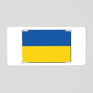 Flag of Ukraine Aluminum License Plate