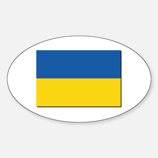 Flag of Ukraine Sticker (Oval)
